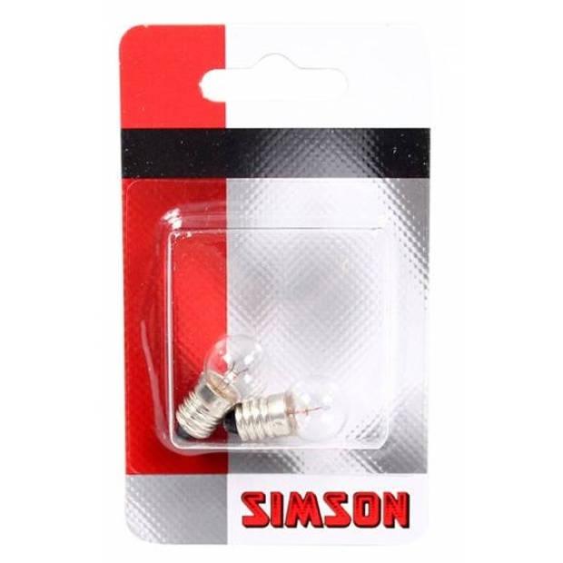 Simson fietslampjes voor 6V/2,4W 2 stuks