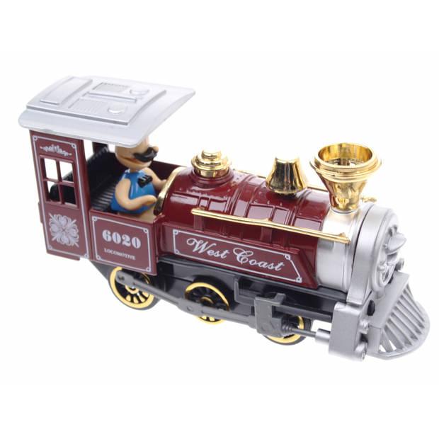 Goki Metalen Klassieke Locomotief: Met Licht en Geluid Rood