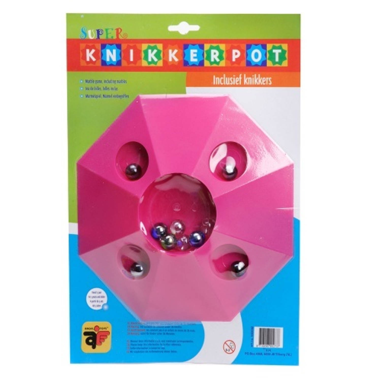 Afbeelding van Angel toys knikkerpot super 22cm roze inclusief 10 knikkers