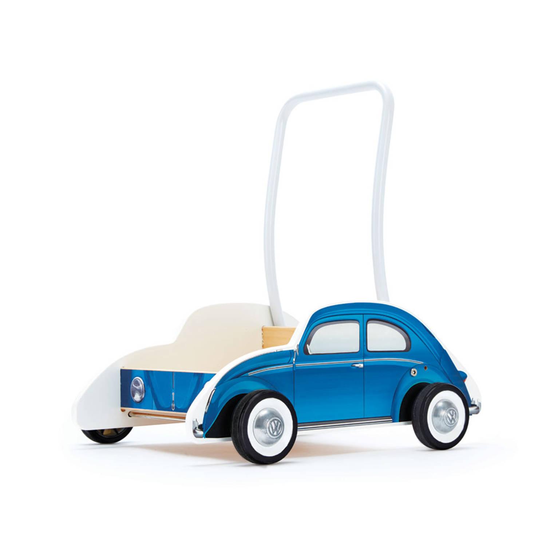 Hape houten loopwagen Volkwagen Kever blauw