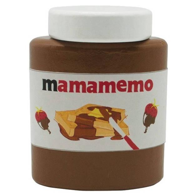 Mamamemo Mama-Tella chocoladepasta hout 6 cm bruin