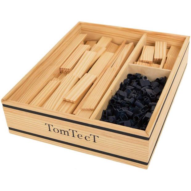 TomTecT bouwkit junior hout/kunststof naturel/blauw 500-delig