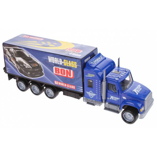Gearbox vrachtwagen transporter 36 cm blauw