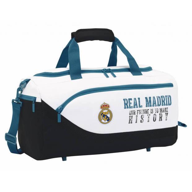 Real Madrid History - Sporttas - 50 cm - Wit