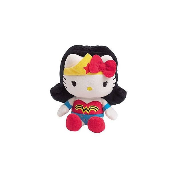 Jemini Hello Kitty Knuffel Wonder Woman meisjes geel/rood 27 cm