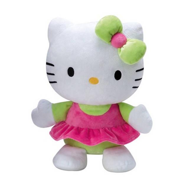 Jemini Hello Kitty knuffel Doll pluche meisjes groen 35 cm