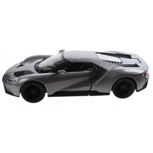 Goki Metalen auto Ford GT 2017 12,5 cm zilver