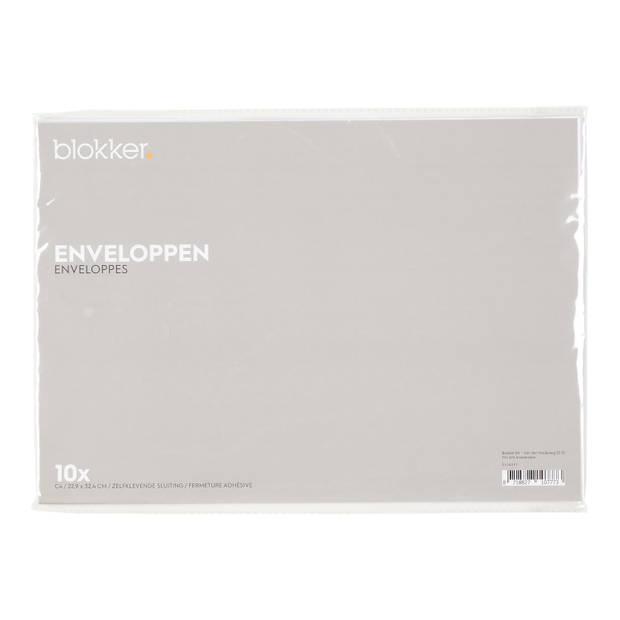 Blokker envelop 22,9x32,4 cm 10 stuks