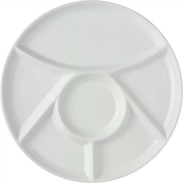 Fonduebord - wit - Ø 25 cm