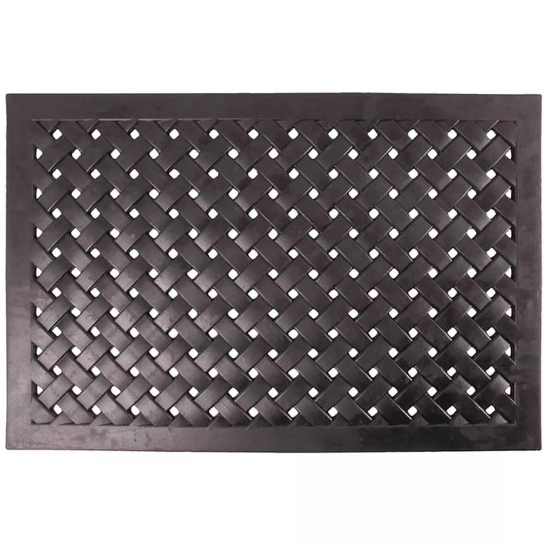 Esschert Design gevlochten deurmat rechthoekig L RB38