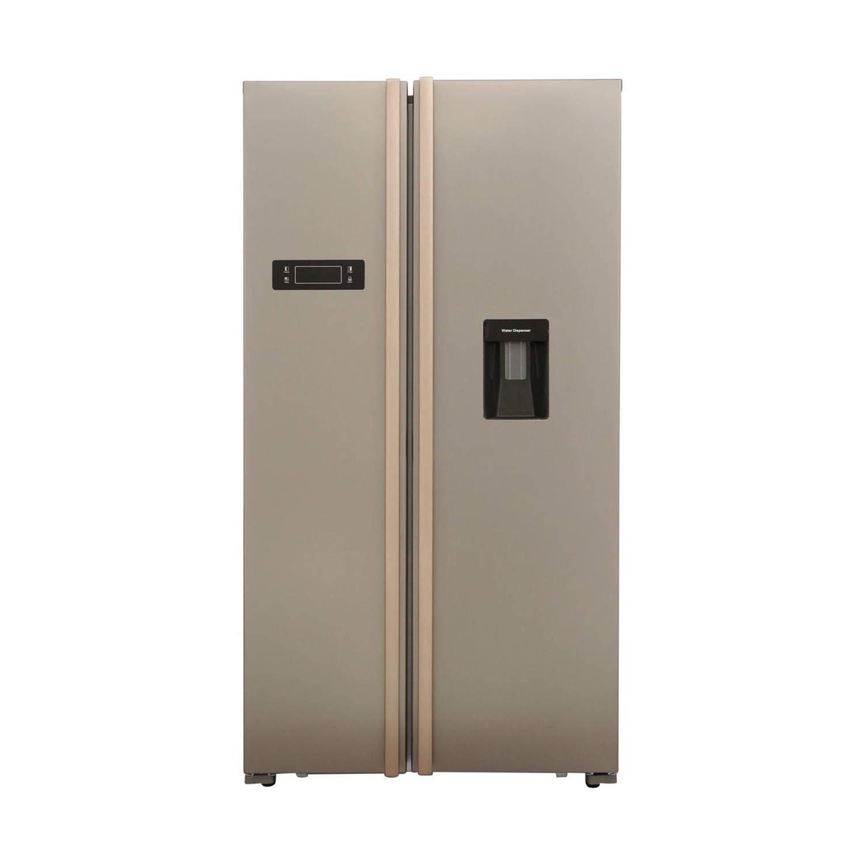 Frilec BONNSBS555-4WA++INOX amerikaanse koelkasten - Roestvrijstaal