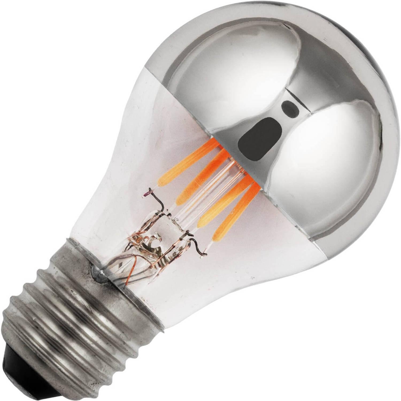 Afbeelding van Standaardlamp kopspiegel zilver led filament 4w (vervangt 35w) grote fitting e27