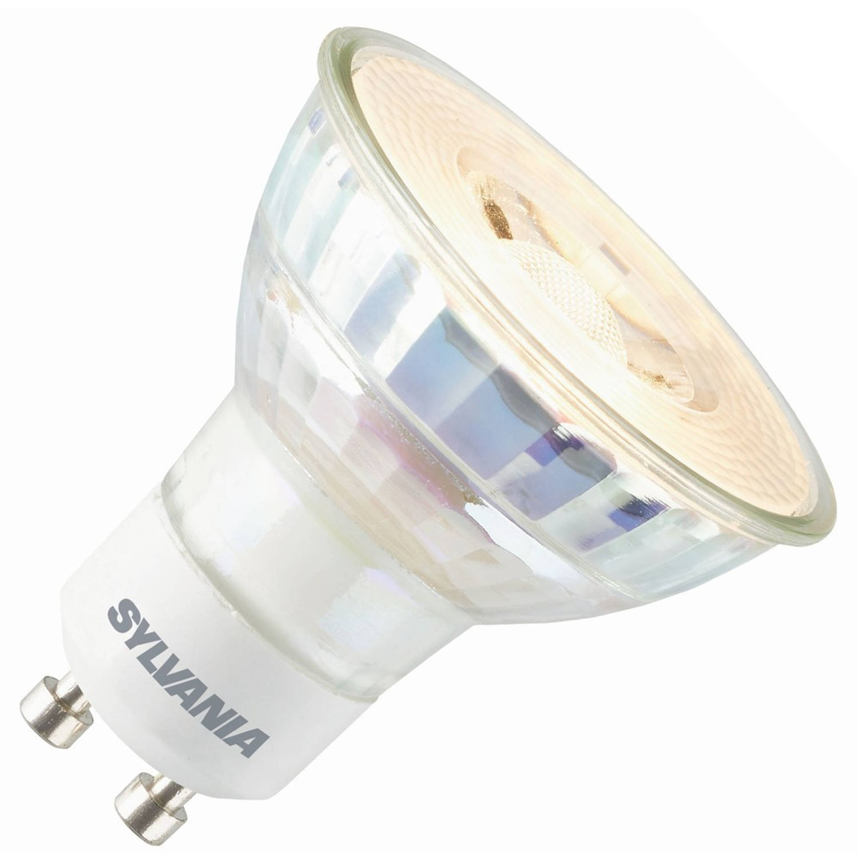 Sylvania led reflector 230v 5,5w (vervangt 35w) gu10 50mm 4000 koel-wit