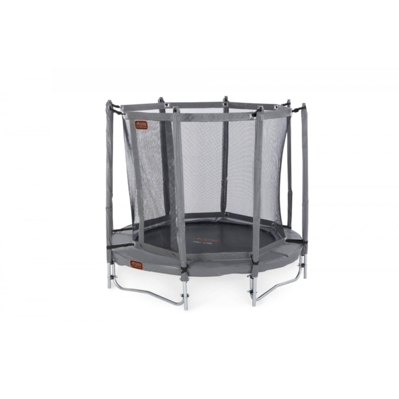 Afbeelding van Avyna pro-line 06 ronde trampoline ø200 cm, net boven, ladder, grijs