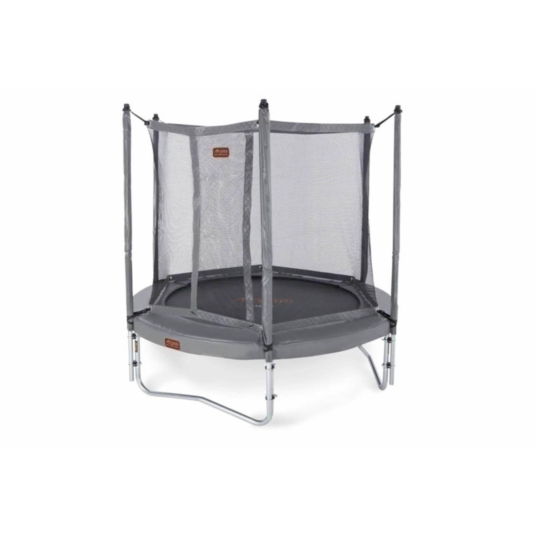 Afbeelding van Avyna pro-line 08 ronde trampoline ø245 cm, net boven, ladder, grijs
