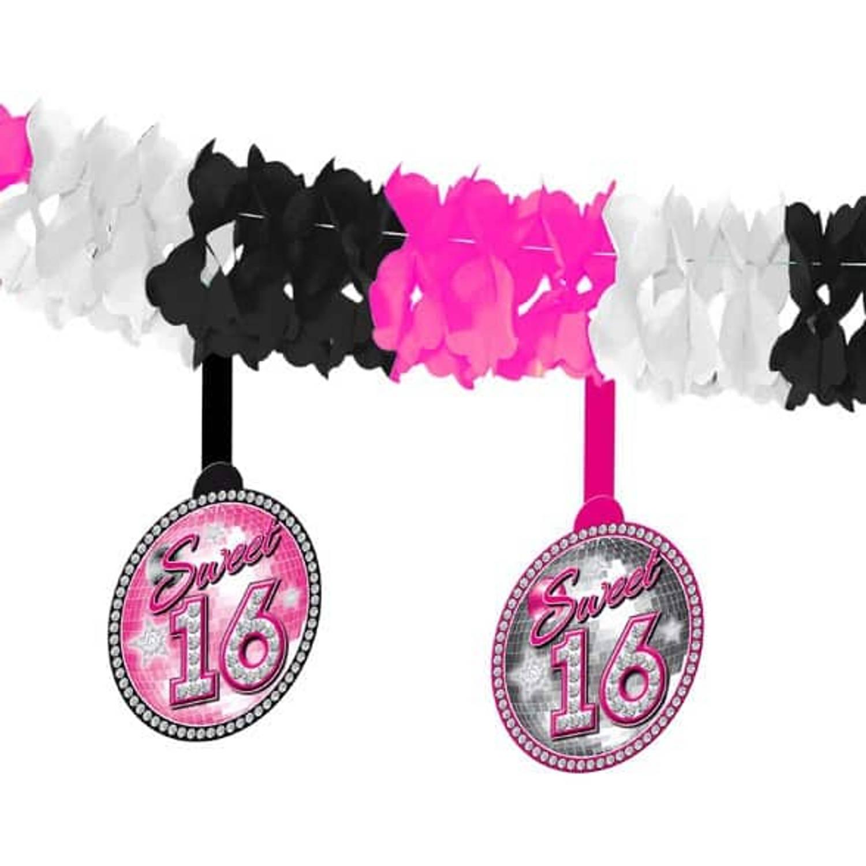 Feestbazaar Sweet 16 slinger met onderhanger online kopen