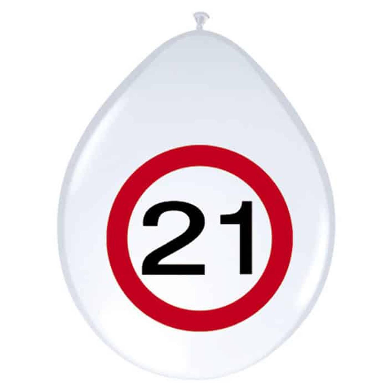 Feestbazaar Ballonnen Verkeersbord 21 (8st) online kopen