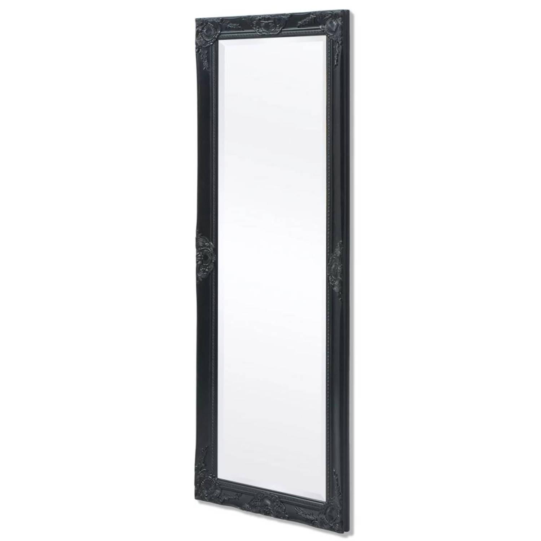 vidaXL Wandspiegel Barok 140 x 50 cm zwart