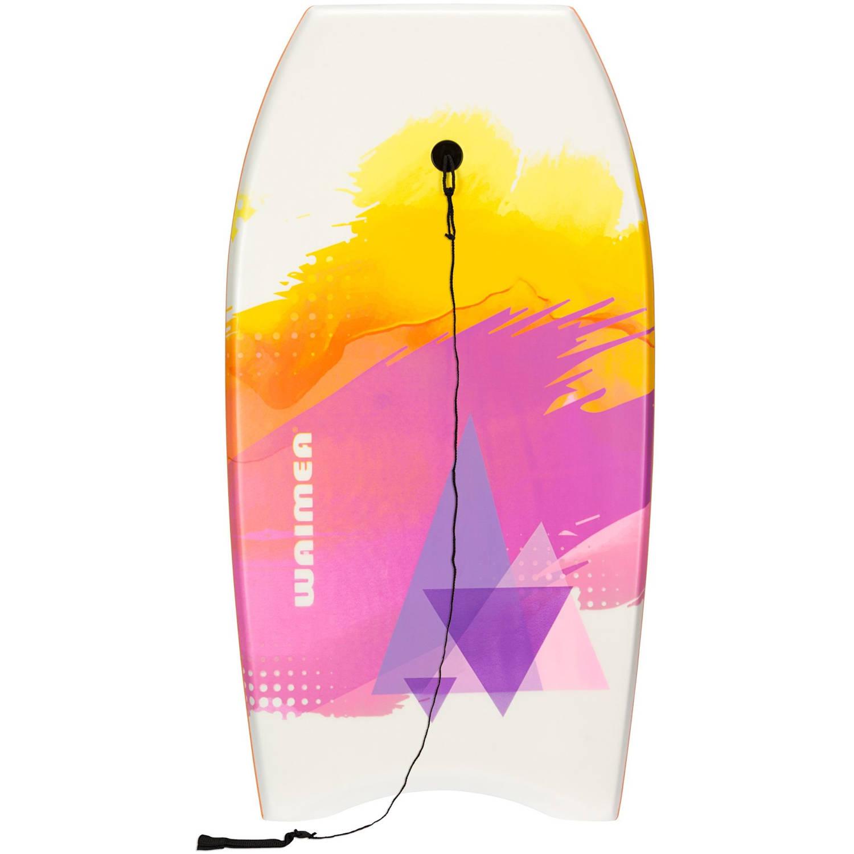 Waimea Bodyboard EPS Slick wit-oranje 93 x 48 cm