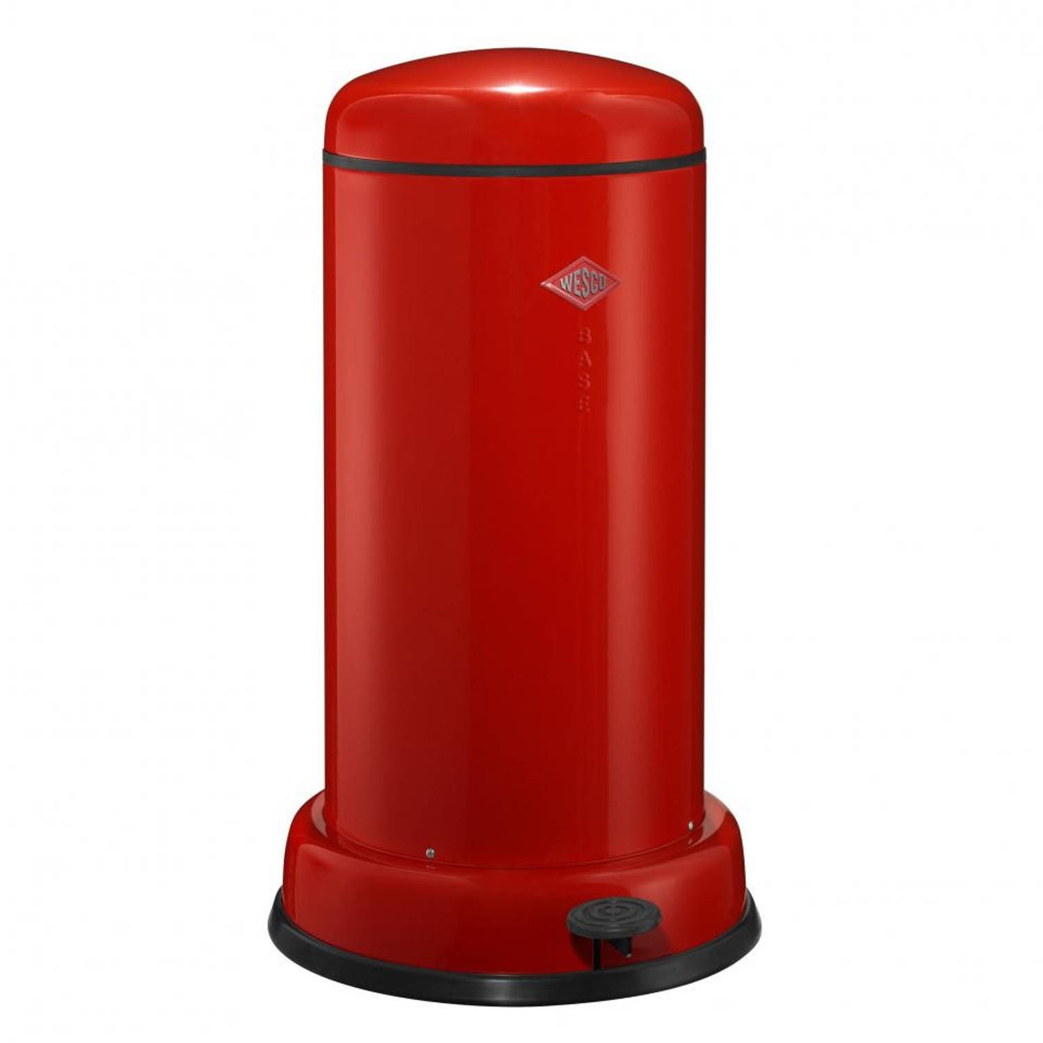 Wesco Baseboy soft close prullenbak - 20 L - rood