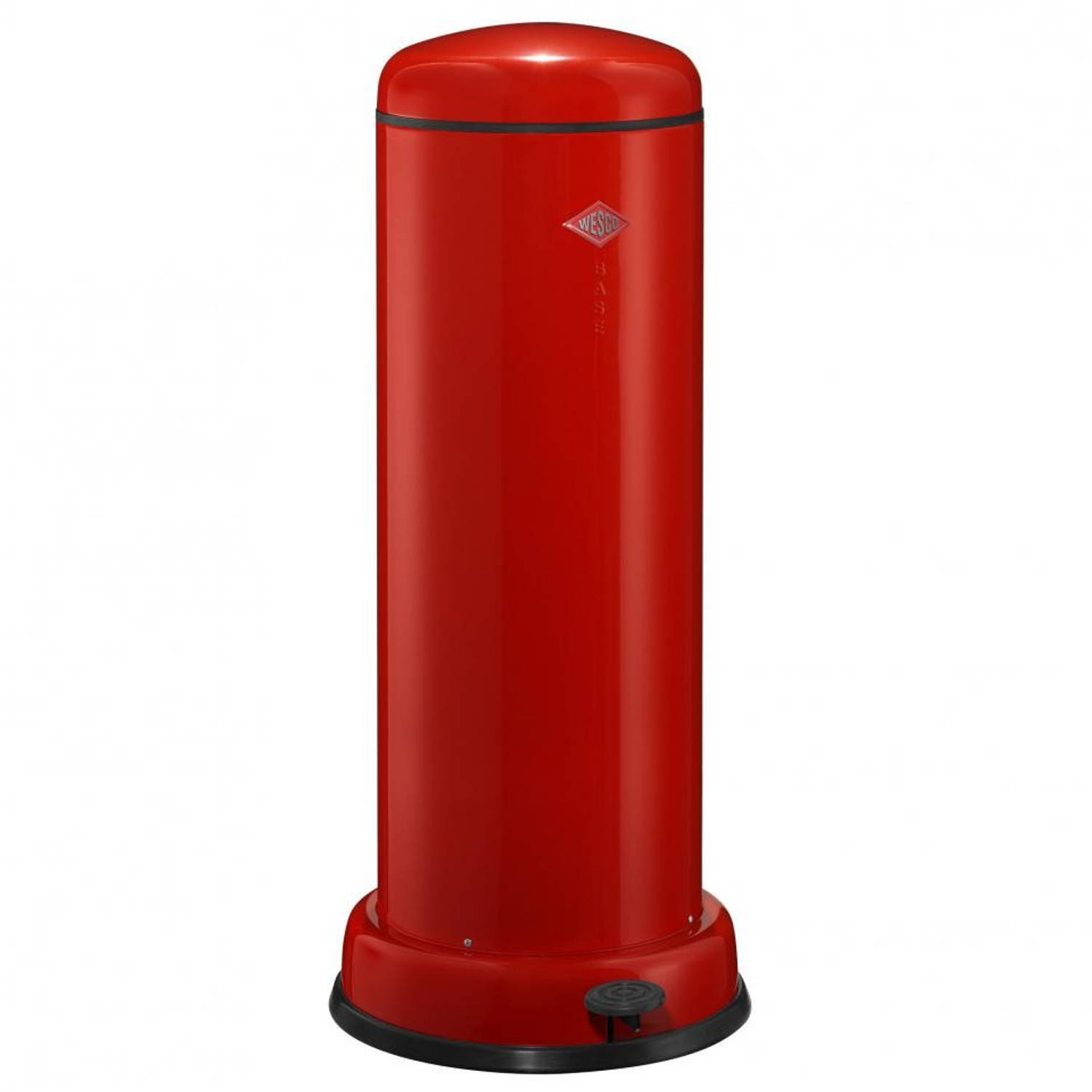 Wesco Baseboy soft close prullenbak - 30 L - rood
