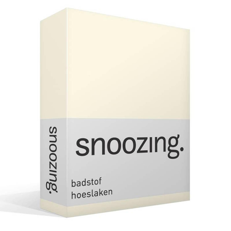 Snoozing badstof hoeslaken - 80% katoen - 20% polyester - 2-persoons (120/130/140x200 cm) - Zand