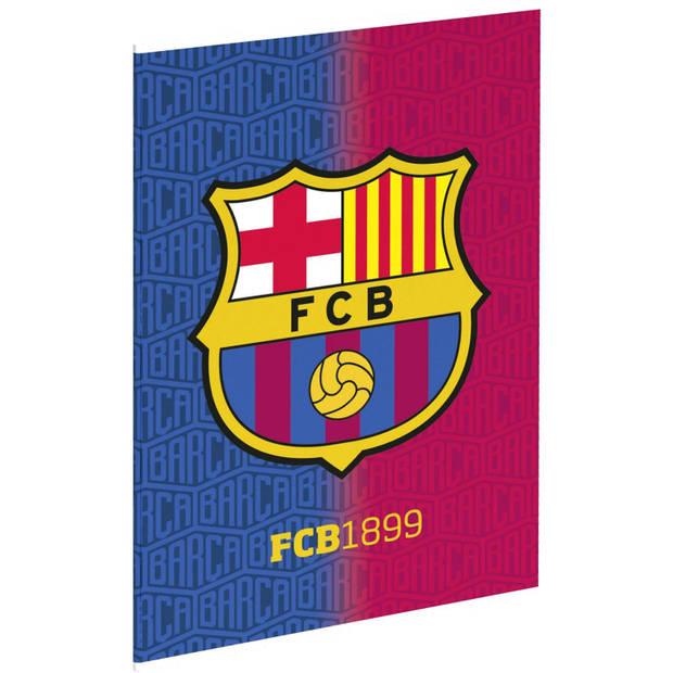 FC Barcelona schrift FCB1899 A4 geruit