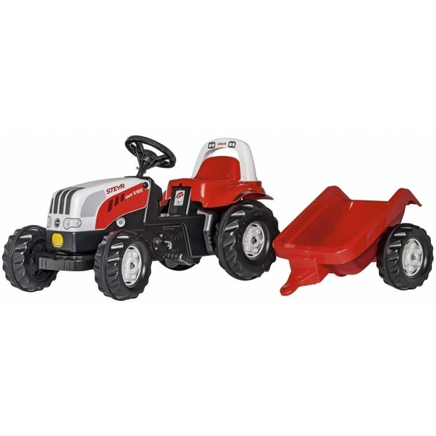 Rolly Toys traptractor RollyKid Steyr 6165 CVT junior rood/wit