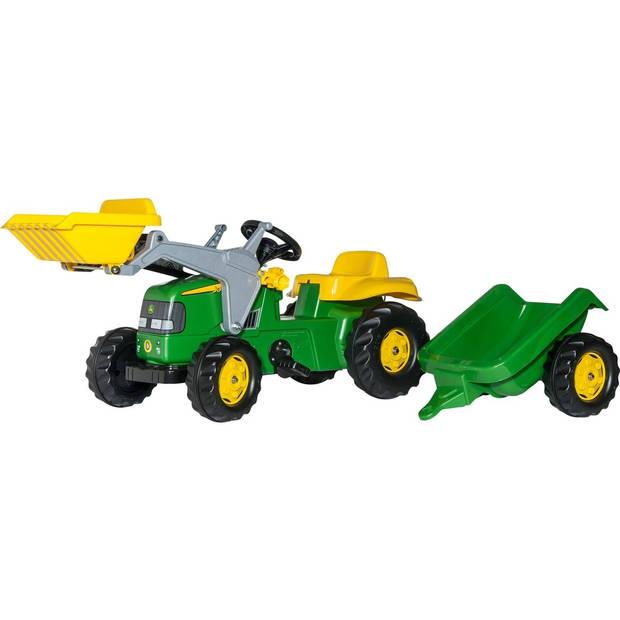 Rolly Toys traptractor RollyKid John Deere junior groen