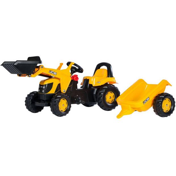 Rolly Toys traptractor RollyKid JCB junior geel/zwart