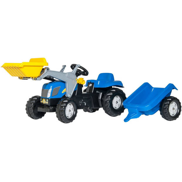 Rolly Toys traptractor RollyKid NH T7040 junior blauw