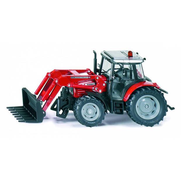 Siku massey ferguson 894 tractor met voorlader rood (3653)
