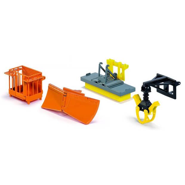 Siku set bressel & lade toebehoren voor voorlader oranje/geel (3661)
