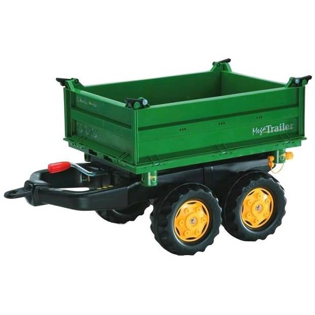 Rolly toys aanhanger rollymega junior groen/geel