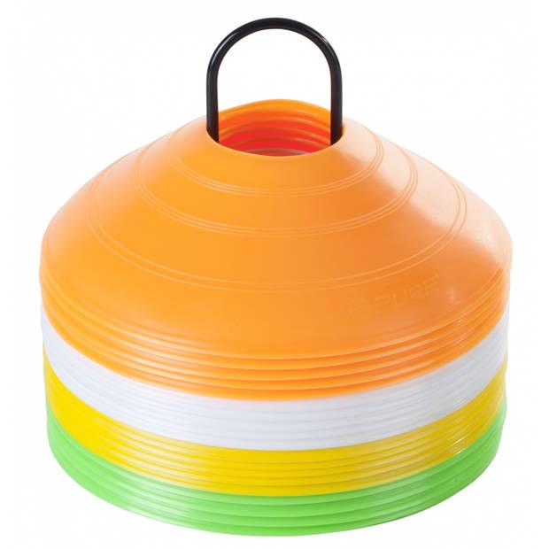 Pure2improve team cones neon kleuren 20 stuks
