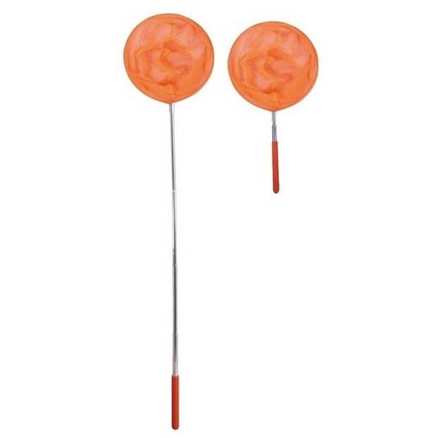 Mamamemo telescopisch visnet oranje 37-85 cm