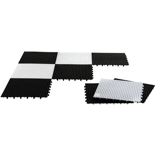 Rolly Toys schaak- en damveld 36 cm zwart/wit 64-delig