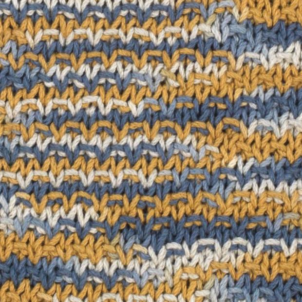 Dutch Decor Sierkussen Judith 45x45 cm blauw multi