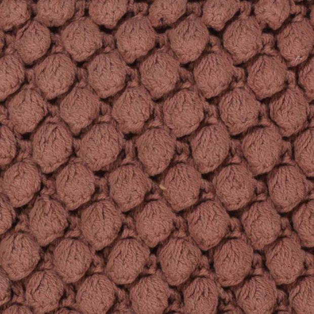 Dutch Decor Kussenhoes Crox 45x45 cm pruim