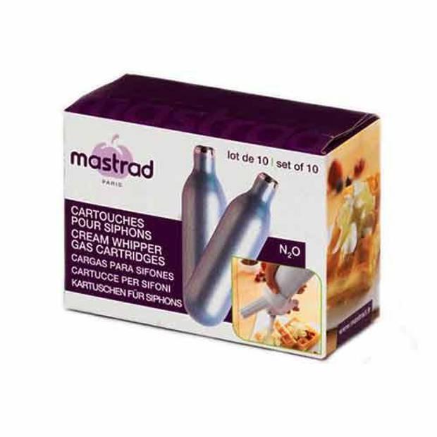 Set van 10 persluchtpatronen voor de sifon - Mastrad