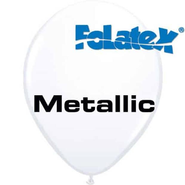Ballonnen metallic wit 30 cm 25 stuks