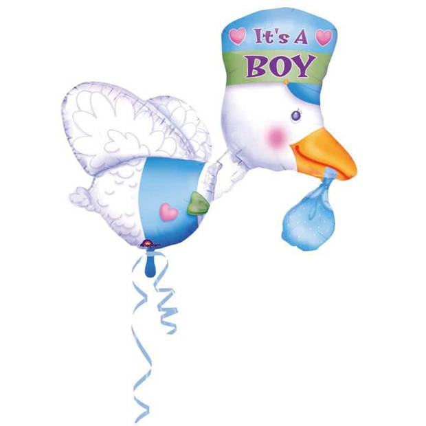 Folieballon ooievaar jongen