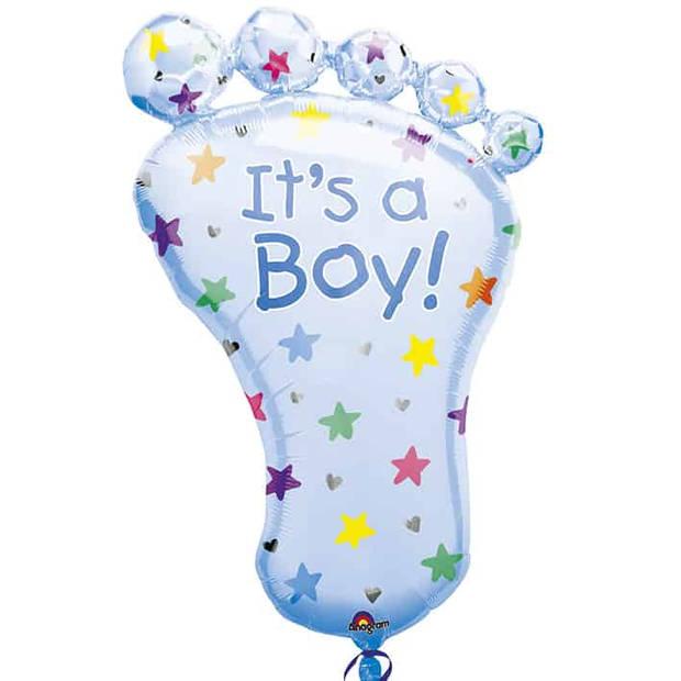 Folieballon its a boy voet