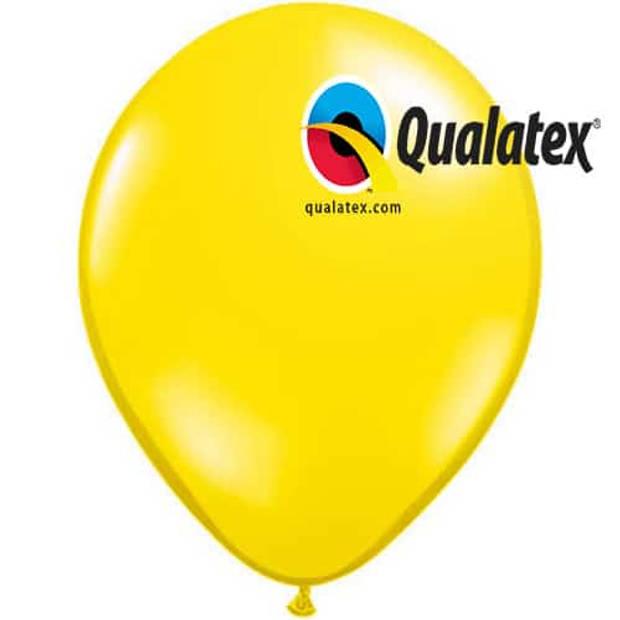 Ballonnen geel 15 cm 100 stuks