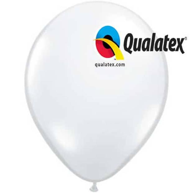 Ballonnen wit 15 cm 100 stuks