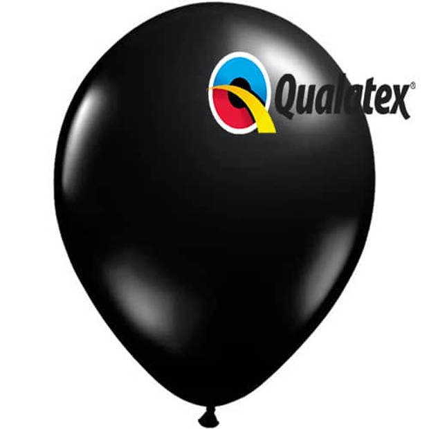 Ballonnen onyx black jewel 15 cm 100 stuks
