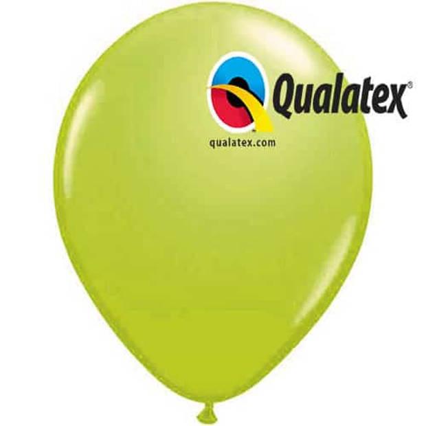 Ballonnen lime green fashion 15 cm 100 stuks