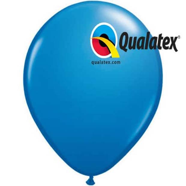 Ballonnen donkerblauw 30 cm 100 stuks