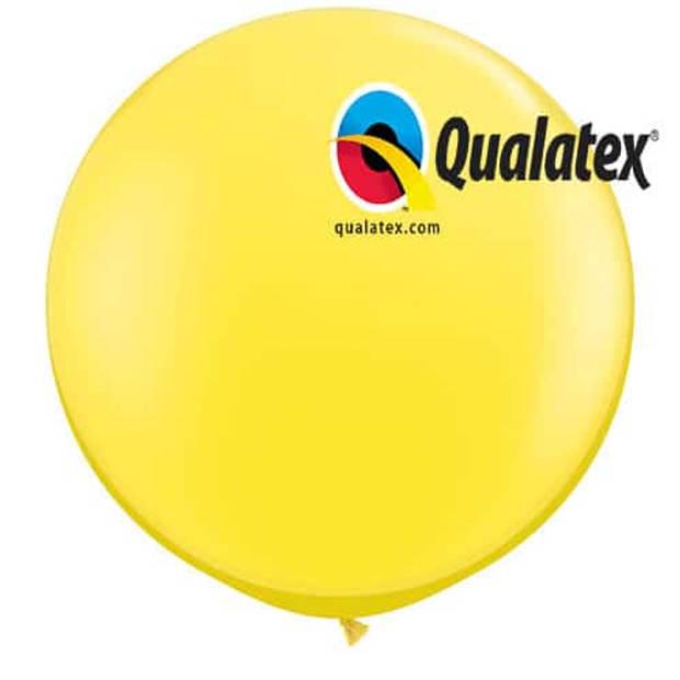 Megaballon geel 95 cm 1 stuks