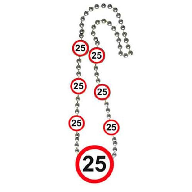 Ketting verkeersbord 25